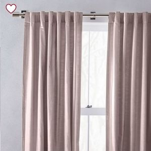NIP West Elm Cotton Luster Velvet curtain blush